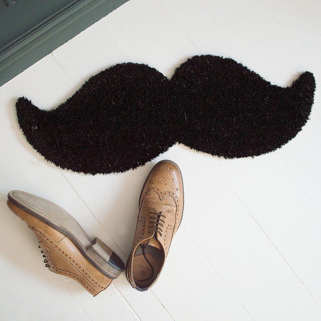 Mustache Coir Doormat