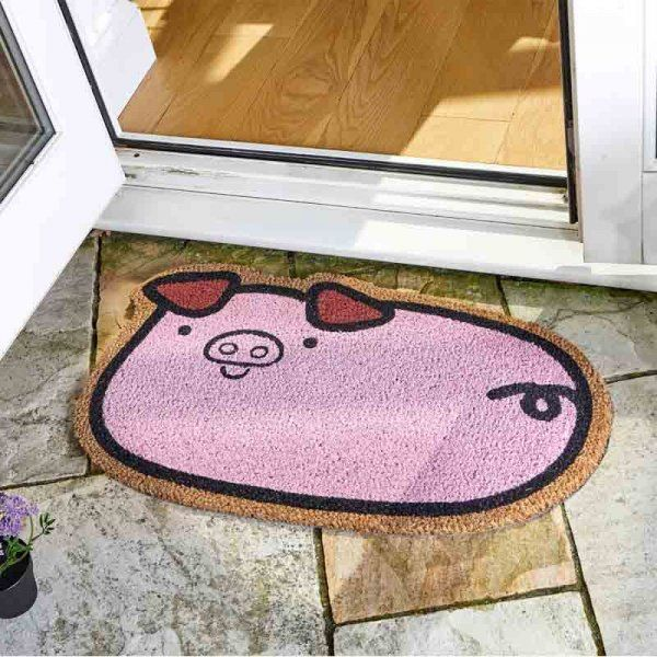 Porky Pig Coir Doormat