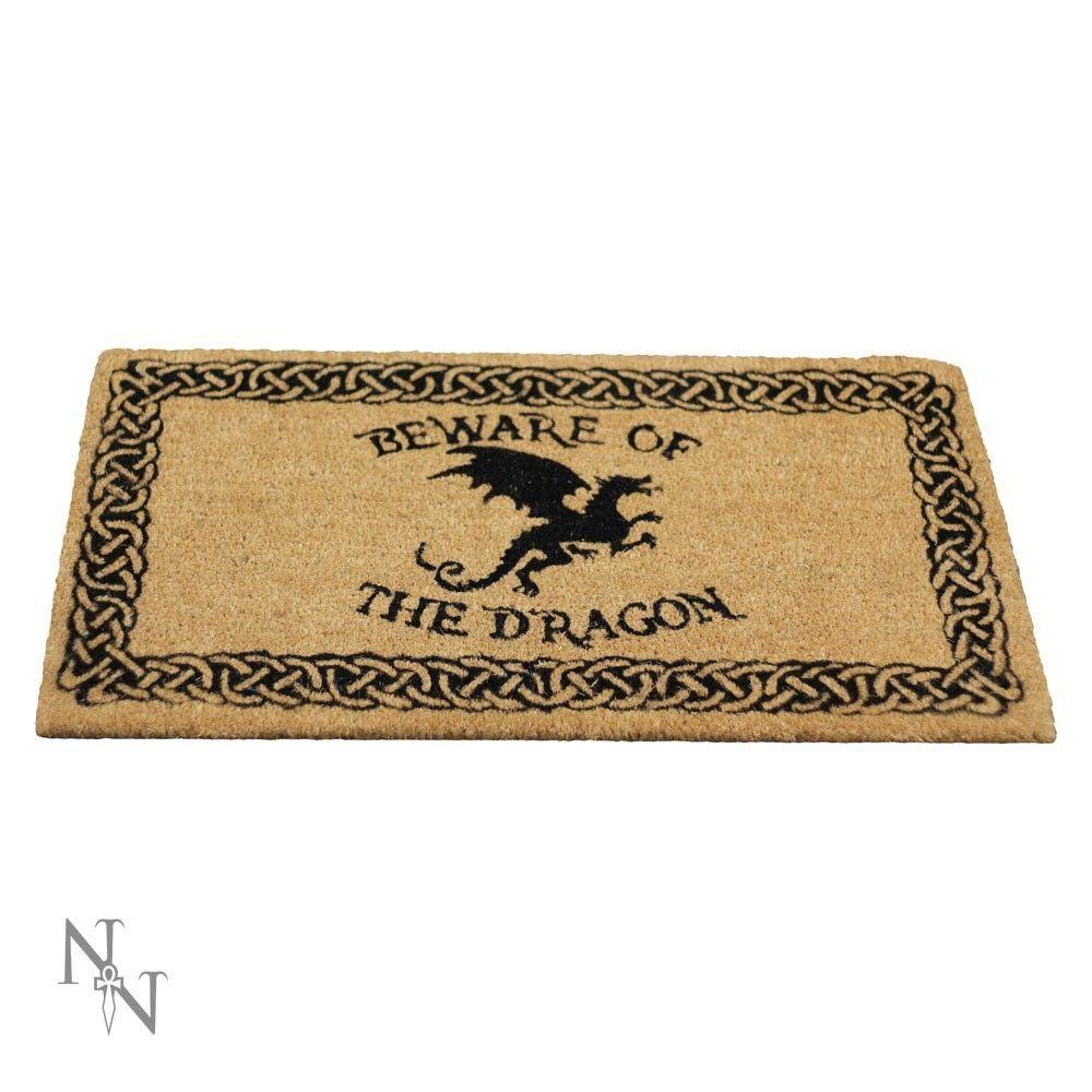 Beware of the Dragon Coir Doormat