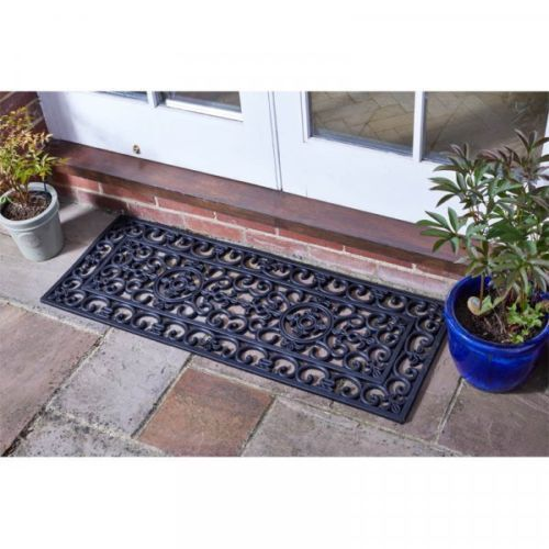 Extra Long Heavy Duty Rubber Cast Iron Style Doormat