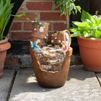 Solar Powered Fairy Plant Pot Fountain