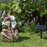 Solar Powered Liliana Cascade Fountain