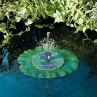 Solar Powered Lily Pad Floating Fountain