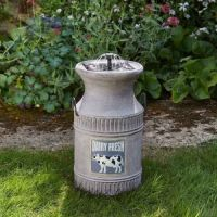 Solar Powered Milk Churn Fountain