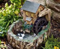 Solar Powered Water Mill with Night Light