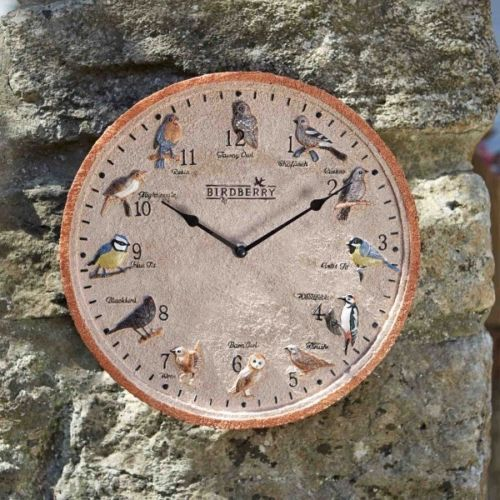 Outdoor Birdberry Wall Clock