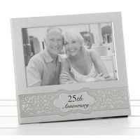25th Silver Wedding Anniversary Photo Frame 6x4