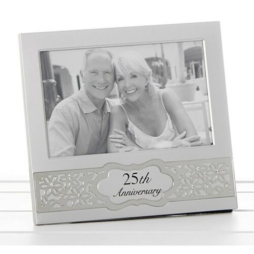 25th Silver Wedding Anniversary Photo Frame 6x4""