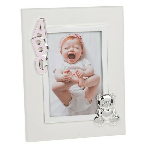 "ABC Baby Pink 4x6"" Photo Picture Frame"