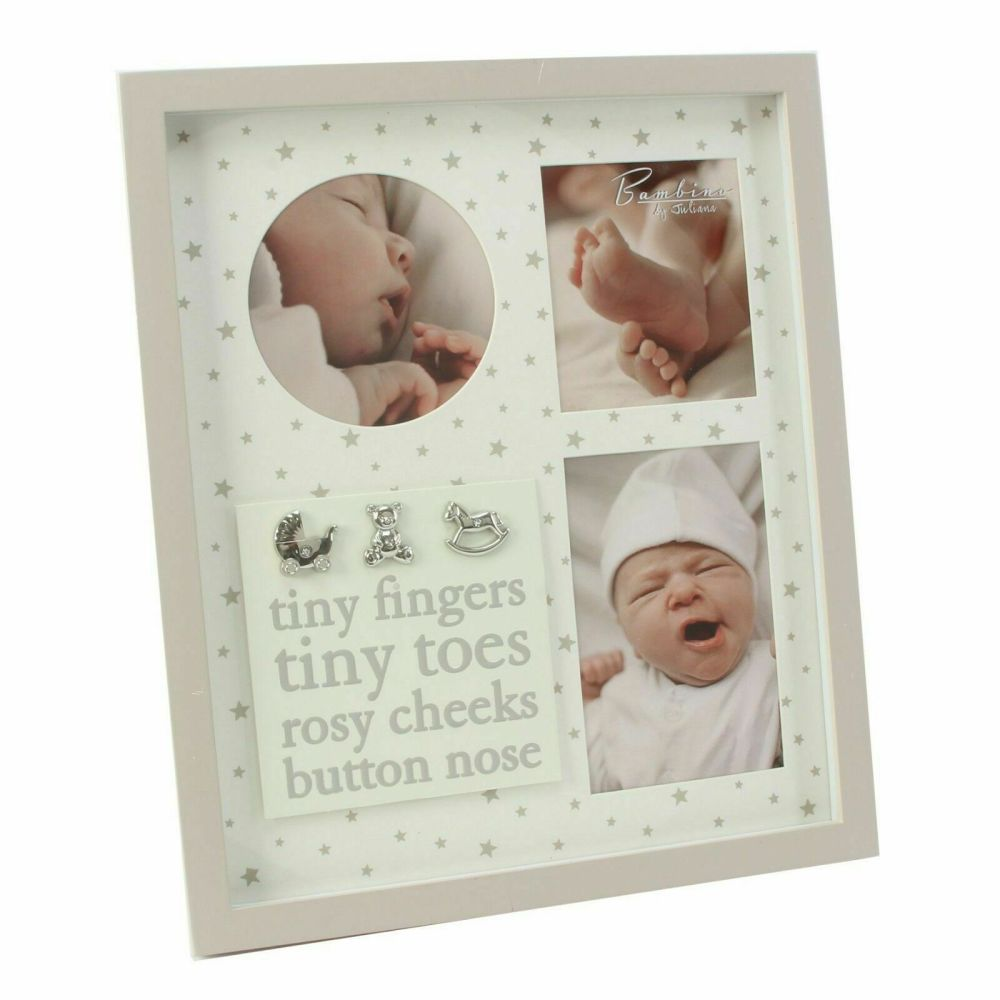 BABY TRIPLE APERTURE PHOTO FRAME