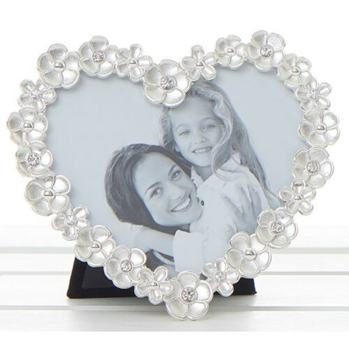 Jewel Flower Heart Photo Frame 4x4