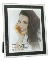 Mirror Black Diamond Crush Glitter Photo Frame 8 x 10