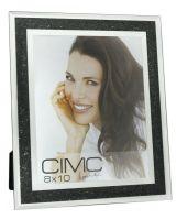 Mirror Black Diamond Crush Glitter Photo Frame 8 x 10