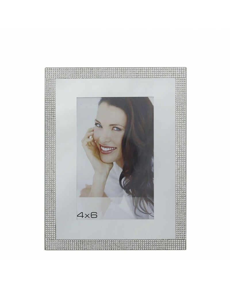 Silver Glitz And Mirror Photo Frame 4 X 6