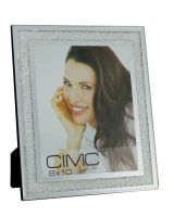 Silver Mirror Diamond Crush Glitter Photo Frame 8 x 10