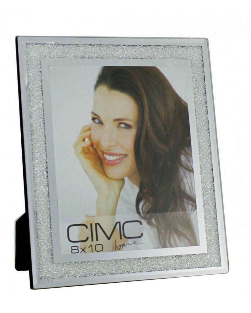 Silver Mirror Diamond Crush Glitter Photo Frame 8 x 10