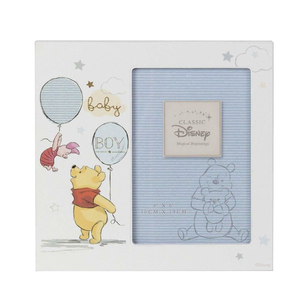 DISNEY Winnie the Pooh Baby Boy Photo Frame 4x6""