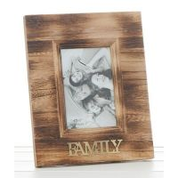 FAMILY 4x6 Rustic Wood Photo Frame
