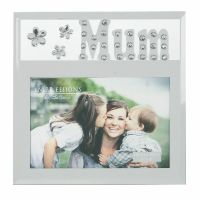 Glitzy Mirrored Glass & Crystal Photo Frame 6