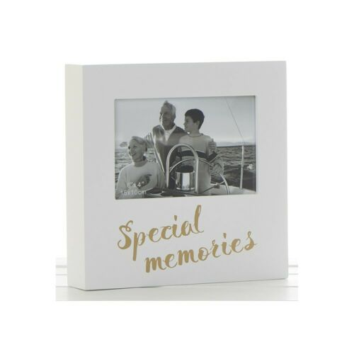 Golden Words Special Memories White Box Photo Frame 6 x 4""