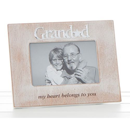 "GRANDAD 4x6"" Lime Wash Wood Photo Frame Wooden"
