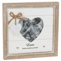 LOVE Photo Picture Frame Heart Shabby Chic
