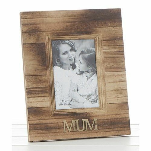 "MUM 4x6"" Rustic Wood Photo Frame Wooden"