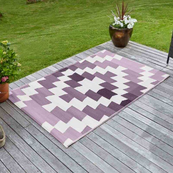 Alfresco pink/purple Mirage Outdoor Rug 120x180cm