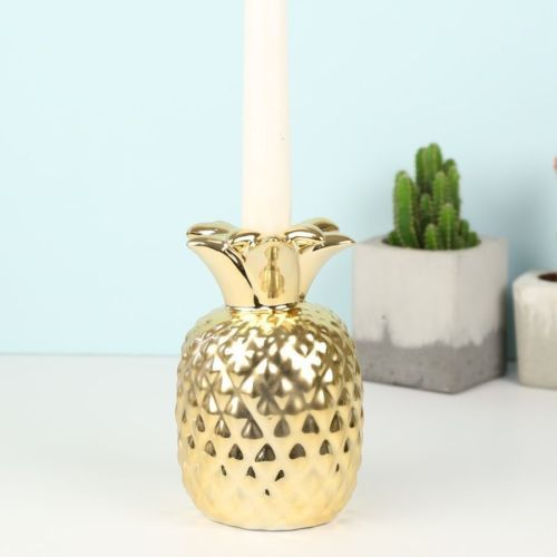 Tropical Boho Gold Pineapple Candle Holder Retro Table Decoration