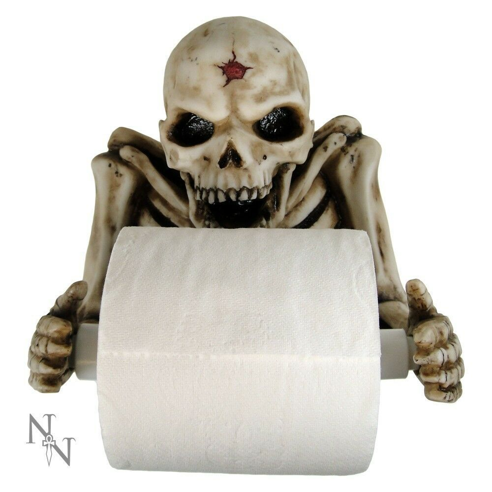 Skeleton Toilet Roll Holder