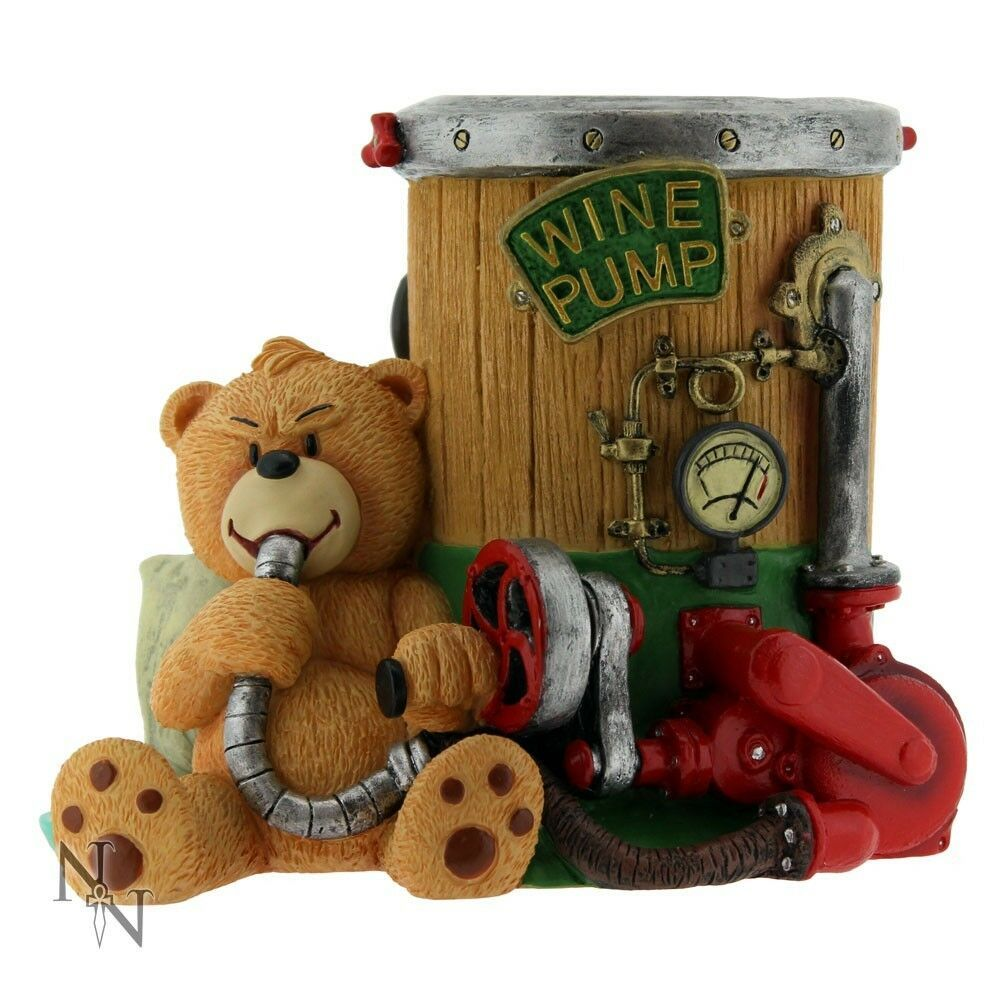 Bad Taste Bears Hand Painted Resin Wine Bottle Holder