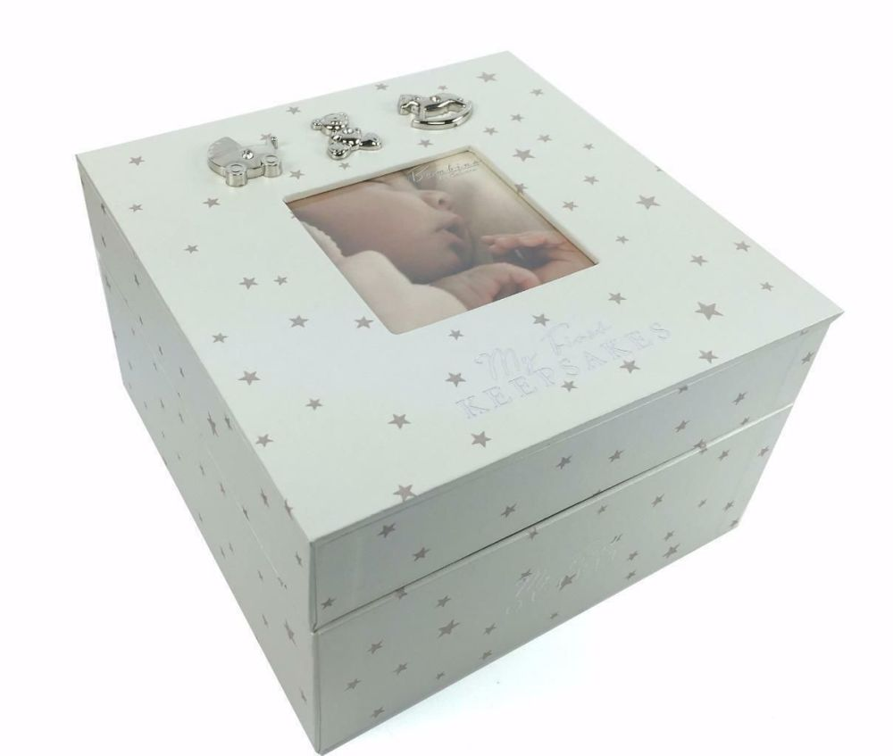 Baby Double Stacking My Keepsakes & First Outfit Box