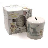 DISNEY Classic Christopher Robin Winnie the Pooh Ceramic Money Bank