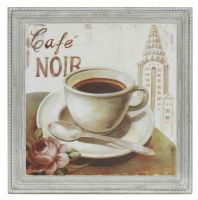 Cafe Noir Wooden Panel Wall Art Picture