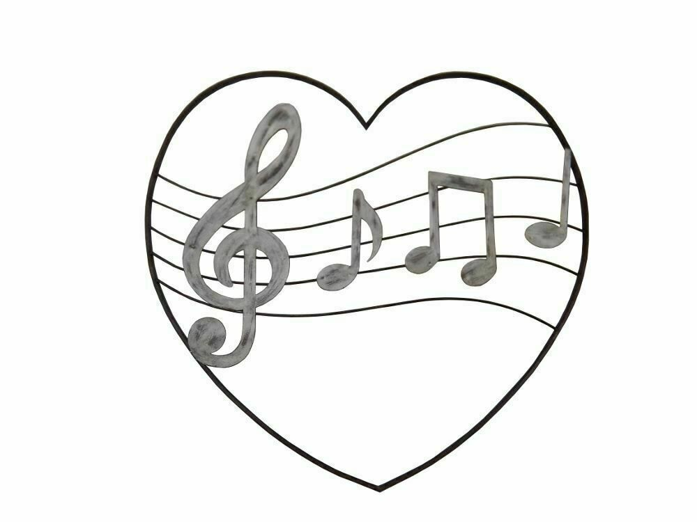 Musical Notes In Love Heart