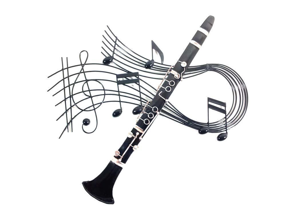 Clarinet Music Swirl Wall Art