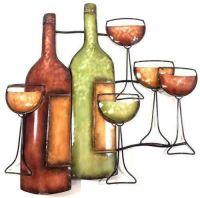 Wine Bottle Scene Wall Art