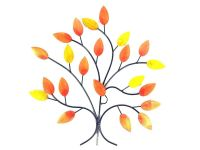 Autumn Leaves on Branch Wall Art