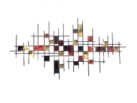 Large Underground Abstract Map Grid Wall Art