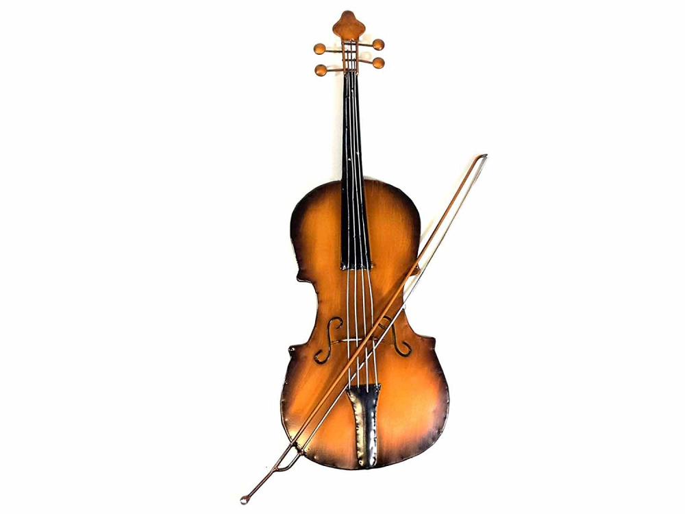 Violin Fiddle Musical Metal Wall Art