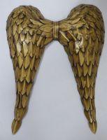 Large Gold Metal Angel wings Metal Wall Art