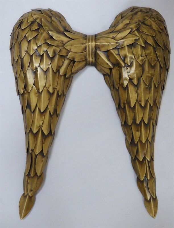 Large Gold Metal Angel wings Metal Wall Art