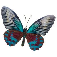 Teal Blue Colourful Butterfly Wall Art