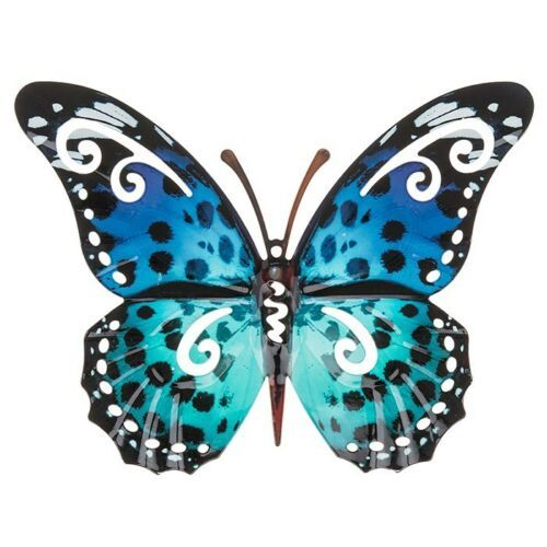 Blue Spot Colourful Butterfly Wall Art
