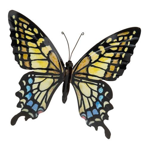Gold Colourful Butterfly Wall Art