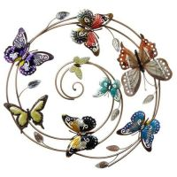 5 Butterfly Swirl Wall Art