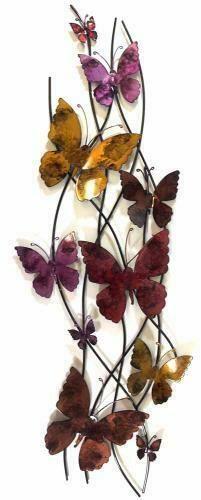 Colour Butterfly Spray Wall Art