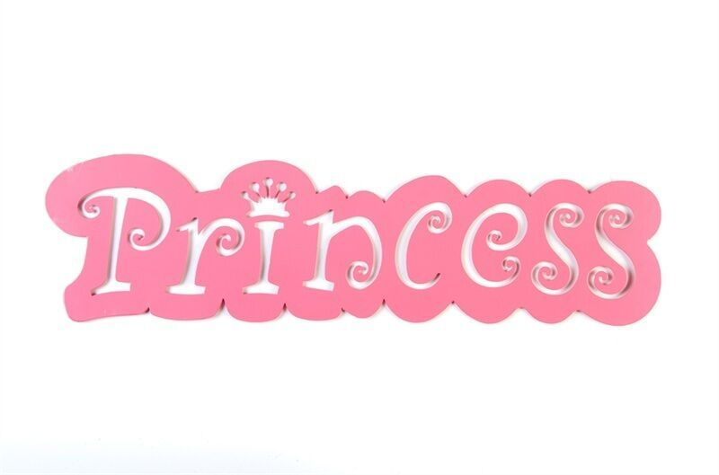 Pink Princess Metal Cut Out Wall Art