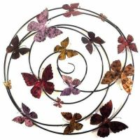 Large Colour Butterfly Spiral Wall Art