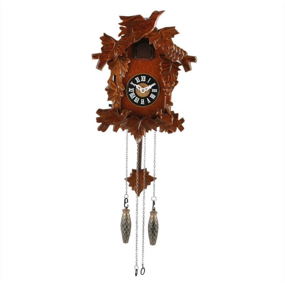 Carved Birds Wooden Cuckoo Clock